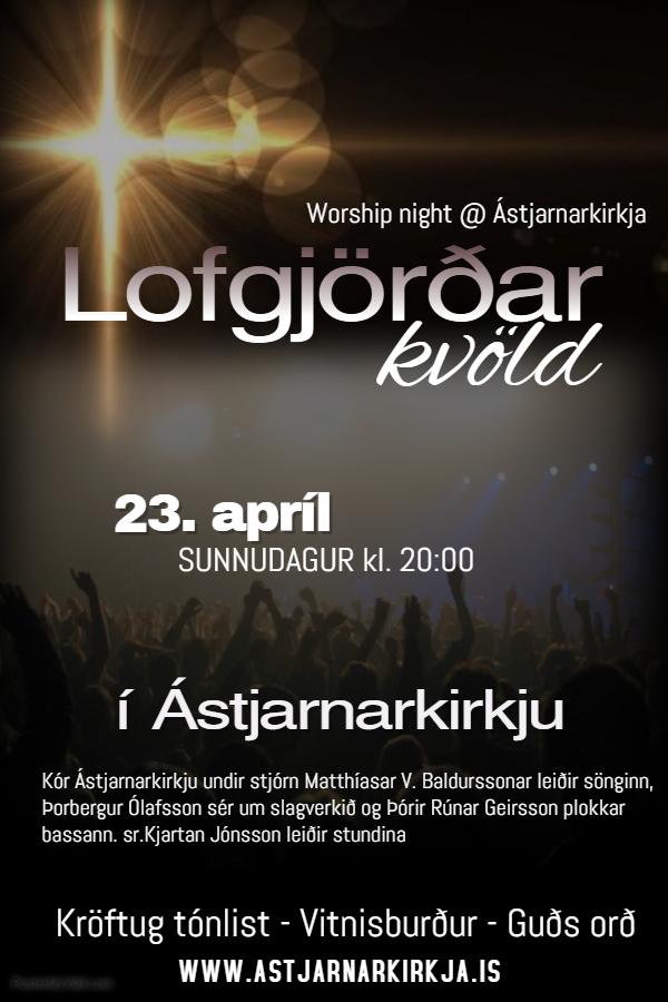 Lofgjörðarkvöld kl.20:00